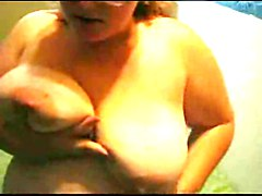 Chubby Teen Ex Girlfriend with Glasses playing with her Tits
