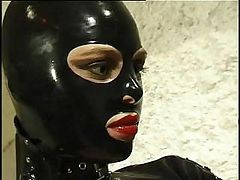 Hot Cat Woman In Leather Suit Does Anything She Wants To Her Horny Slave
