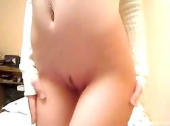 Striptease for a webcam live show