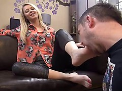blonde milf feet domination