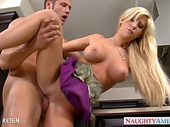 Busty Tasha Reign Gives Oral Sex
