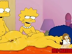 cartoon porn simpsons porn bart and lisa have fun with mom marge