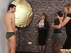 male model seduced by three