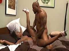 Black bitch Janea Jolie gets fucked hard by the cock of Mr. Marcus