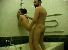 hot couple in bath