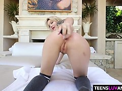Blonde anal teen Dakota Skye